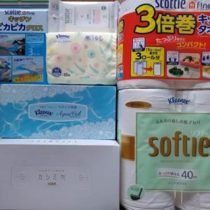 日本製紙(3863)株主優待。家庭用品詰め合わせ(ティッシュ、トイレットペーパーなど)。優待クロス情報。