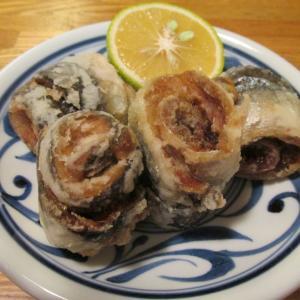 【旨魚料理】サンマの梅しそ巻き揚げ
