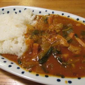 【旨魚料理】カキとホウレンソウのカレー