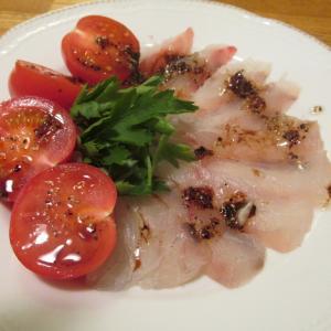 【旨魚料理】クロダイのカルパッチョ