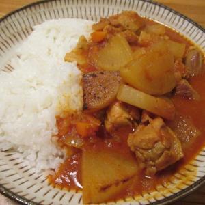 【料理番外編】鶏肉と大根のカレー