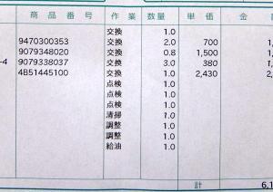 TMAX530車検記録(満7年)