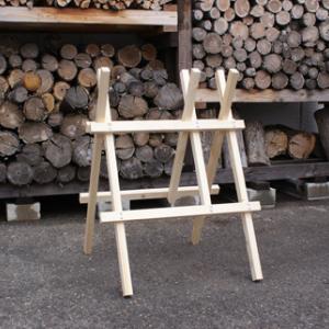 薪作り 玉切り台(玉切り用馬) 塗装