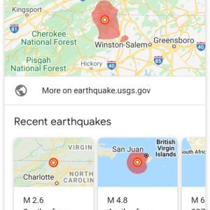ノースキャロライナで地震