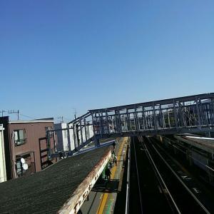 【JR稲田堤駅橋上駅舎化工事23・写真付き!】線路を挟んでついに、南北に鉄橋がかかった!・・・いよいよ橋上化が目に映る形で見えてきましたよ!