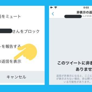 Twitterクソリプ隠すやつ予兆?「非表示の返信を表示」出現。けど「返信を非表示にする」機能はまだない。ツイッター新機能アップデート最新情報 2019年8月