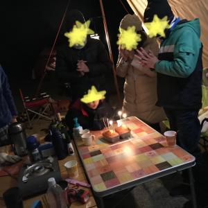 春のキャンプ お誕生日ぱーりー