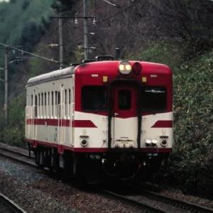 東北本線キハ52形 長いホームにポツンと1両車 1995-05-01