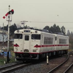 八戸線キハ40系 懐かしの腕木式信号機 1995-05-01