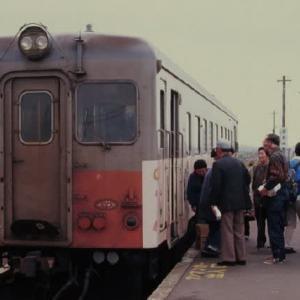 津軽鉄道キハ22形 津軽飯詰の列車交換 1996-05-02