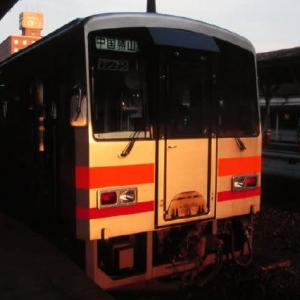 津山線キハ120形 高速化事業で投入された新車 1997-07-22