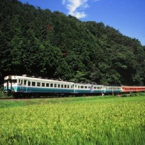 因美線キハ58系 タブレットキャッチャー活躍 1996-08-18