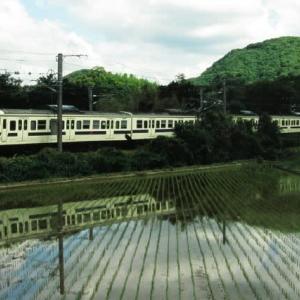 日豊本線415系 やぶに覆われたバス停 2007-06-10