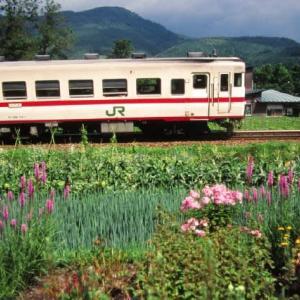 花輪線DE10 モノコックボディの秋北バス 1996-07-29