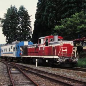 大滝温泉駅DE10-1535 マヤ34軌道検測車 1996-07-29