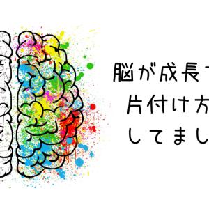 脳が成長する片付け方をしてました