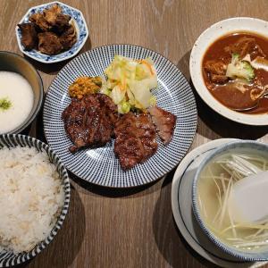 広島駅で牛タン定食