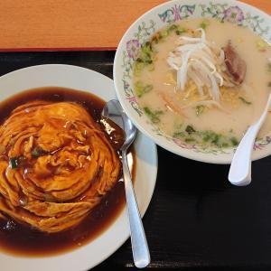 延寿飯店で天津飯