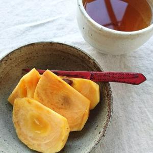 柿とほうじ茶と物欲爆発。