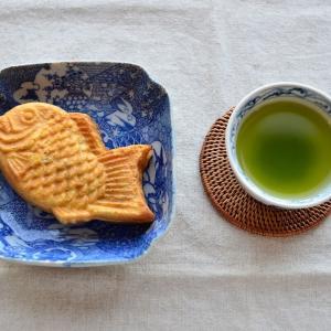 【今日のおやつ】たい焼きと緑茶&かごバッグ迷路&久々の散歩