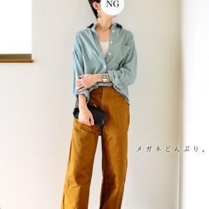 【今日の服】くすみカラーシャツにシルバーピアス!で朝からコンビニへ(笑)