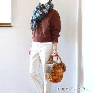 【今日の服】UNIQLO Uのスウェット×ストール&色違いも買い足しました。