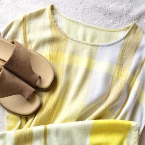 【昨日の服】黄色ワンピに合わせたかったユニクロサンダル