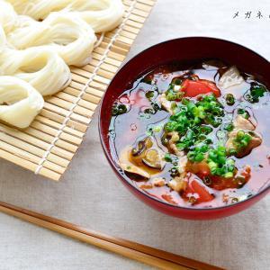 【今日の昼ごはん】ナスとトマトと豚肉の素麺と最近の息子
