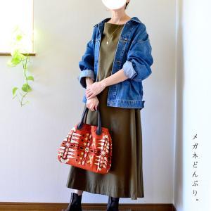 【今日の服】カーキワンピースでも秋の服装を&【殴り描きこども絵日記】リサイクルマーク