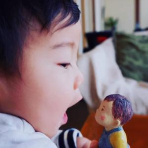 一歳の記念に☆信楽焼のお人形