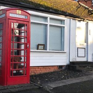 イギリスの赤い公衆電話ボックス