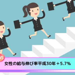 女性の給与伸び率+5.7%〜配偶者控除等の改正の影響?平成30年分民間給与実態統計調査【国税庁】