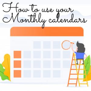 【逆算手帳ウェブ講座】マンスリー・カレンダーの使い方は「もっと自由に!」
