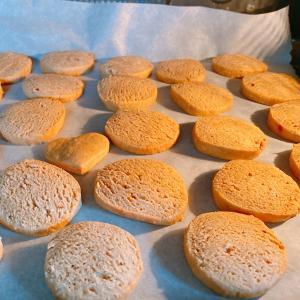 モニターの小麦粉できな粉クッキー