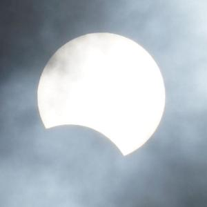 『部分日食』が見えた