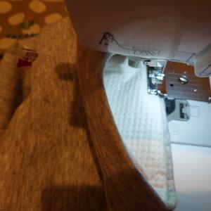久しぶりにまつり縫い