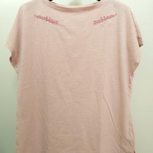 無印のTシャツに刺繍♪