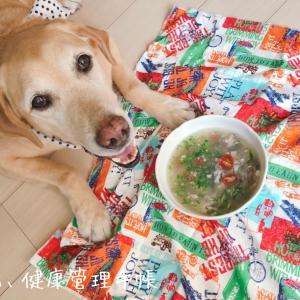 お腹ゆるめな犬ごはん☆イナダのカマ煮☆