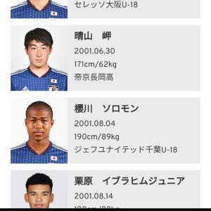 サッカーU18日本代表(SBS杯)
