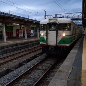 妙高高原駅16:36発