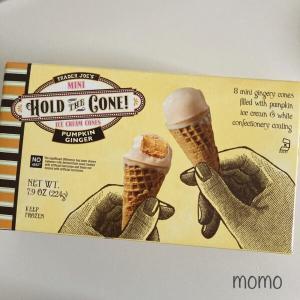 Fall Flavor Trader Joe's Pumpkin Ginger Hold the Cone! Mini Ice Cream 秋限定 トレーダージョーズ ミニアイスクリームコーン パンプキンジンジャーのレビュー