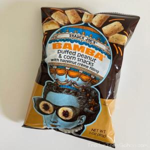 NEW トレジョ バンバ with ヘーゼルナッツクリーム Trader Joe's BAMBA Peanut Snacks with Hazelnut Creme Filling