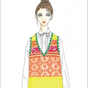 大田真子のファッションデザイン画