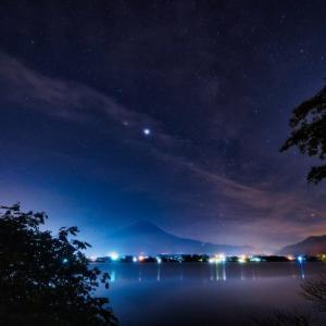 28/Jun 河口湖の星空と富士山と避暑地の野鳥たち