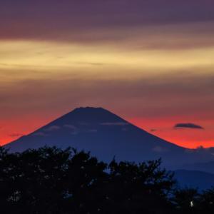 30/Sep 湘南銀河大橋と高ボッチ高原の富士山🗻