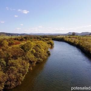【2019年10月今金町紀行・その⑩】「水質が最も良好な河川」選出回数日本一!後志利別川~再び高台から町を一望する