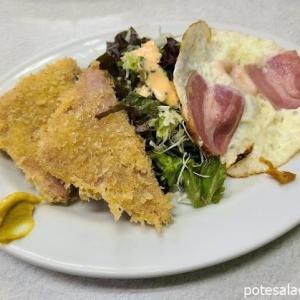 巣鴨「ゆたか食堂」せんべろセットのミニポテトサラダ