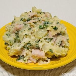 【自宅ポテサラ】パセリは名食材「パセリとハムのポテトサラダ」