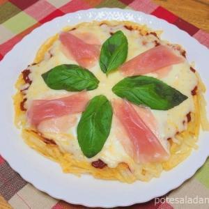 今金男しゃくでポテトピザを作りました