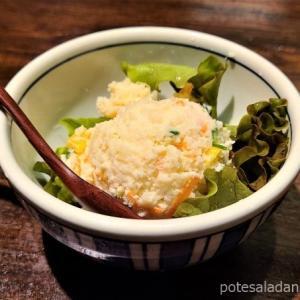 渋谷「かつ吉渋谷店」でポテトサラダと期間限定の冷やしかつ丼